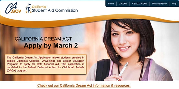 Dream Act Website